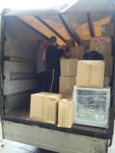 Pakovanje stvari u kamion