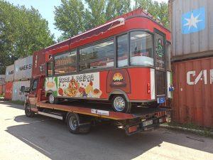 Utovar i transport eletricnog kamiona